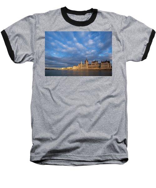 Parliament On The Danube Baseball T-Shirt