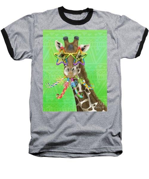 Party Safari Giraffe Baseball T-Shirt