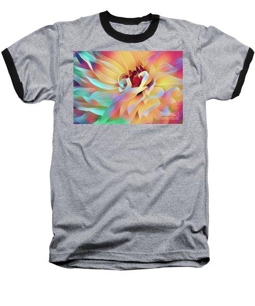 Party Time Dahlia Abstract Baseball T-Shirt