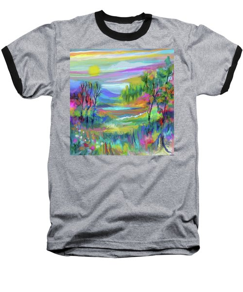 Pastel Landscape Baseball T-Shirt