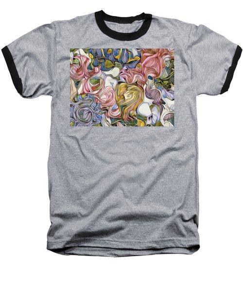 Pastel Mosaic Baseball T-Shirt