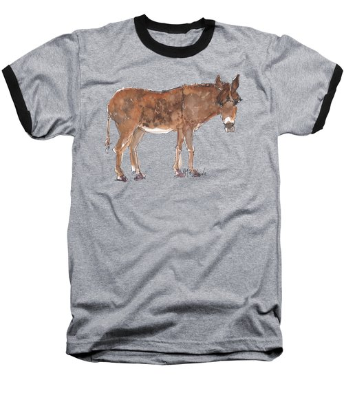 Pasture Boss 2015 Watercolor Painting By Kmcelwaine Baseball T-Shirt