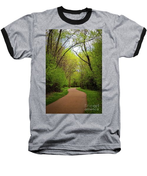 Path In The Forest Baseball T-Shirt