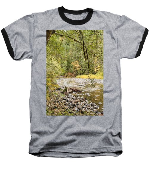 Peaceful Molalla River Baseball T-Shirt