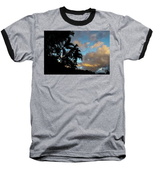 Peach Sunset  Baseball T-Shirt
