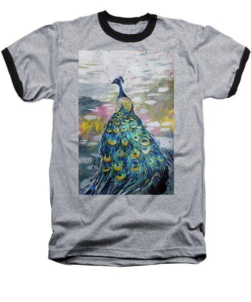 Peacock In Dappled Light Baseball T-Shirt