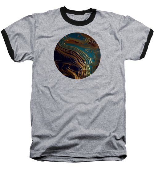 Peacock Ocean Baseball T-Shirt