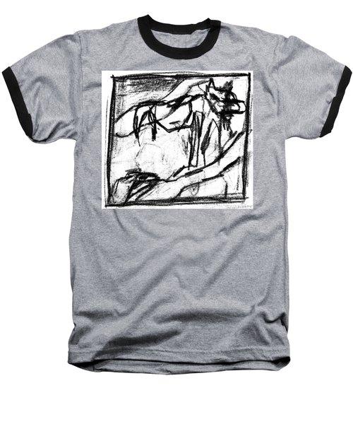 Pencil Squares Black Canine B Baseball T-Shirt
