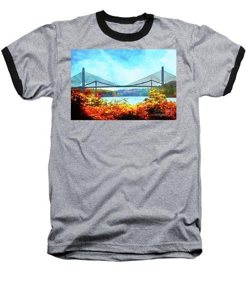 Penobscot Narrows Bridge In Autumn Baseball T-Shirt