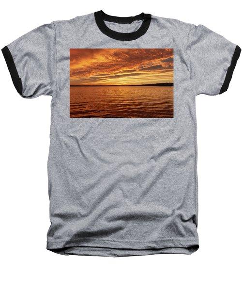 Percy Priest Lake Sunset Baseball T-Shirt