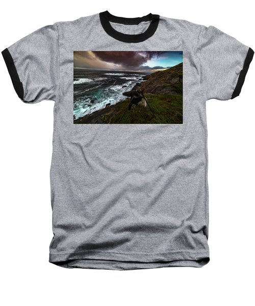 Photo Gear On Landscape Shot Baseball T-Shirt