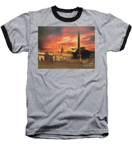 Piazza Del Popolo Rome Baseball T-Shirt