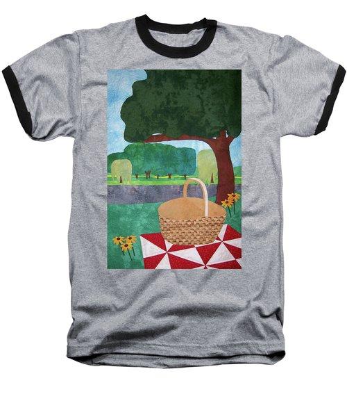 Picnic At Ellis Pond Baseball T-Shirt