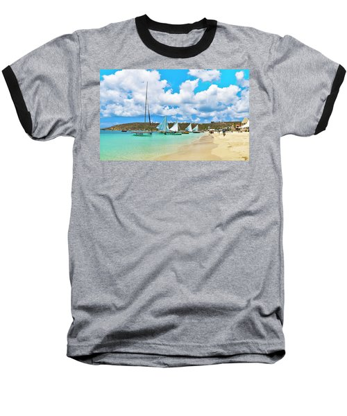 Picture Perfect Day For Sailing In Anguilla Baseball T-Shirt