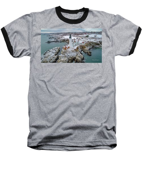 Picturesque Maine  Baseball T-Shirt