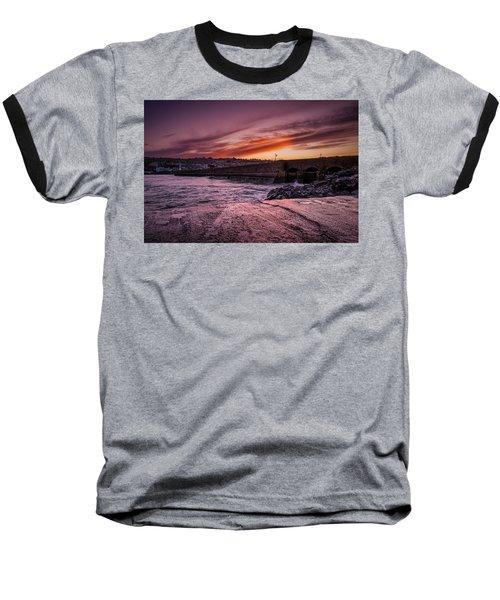 Pier To Pier Sunset Baseball T-Shirt