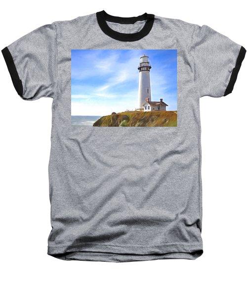 Pigeon Point Lighthouse Ca Baseball T-Shirt