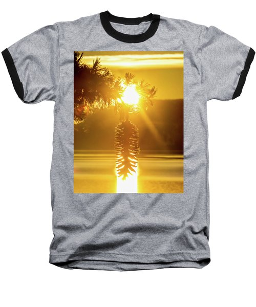 Pine Cone Fire Baseball T-Shirt