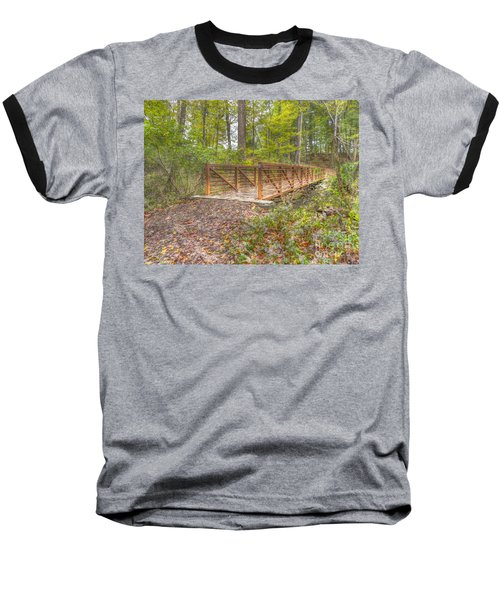 Pine Quarry Park Bridge Baseball T-Shirt
