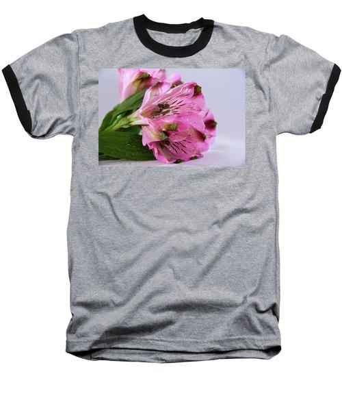 Pink Alstroemeria-4 Baseball T-Shirt