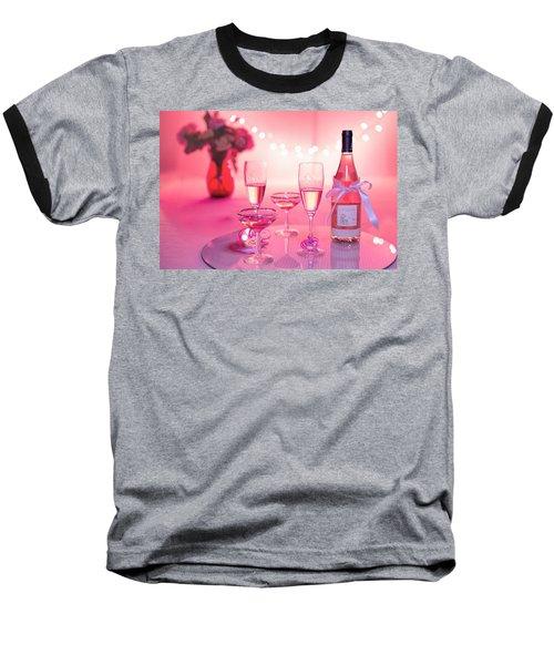Pink Champagne Baseball T-Shirt