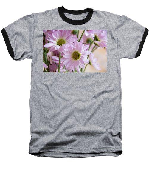Pink Daisies-1 Baseball T-Shirt