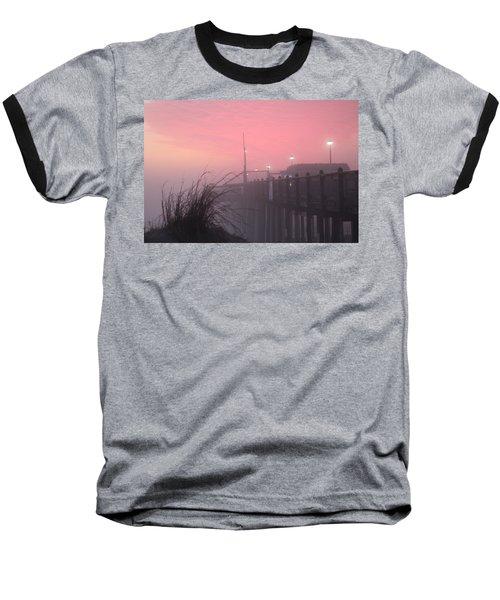 Pink Fog At Dawn Baseball T-Shirt