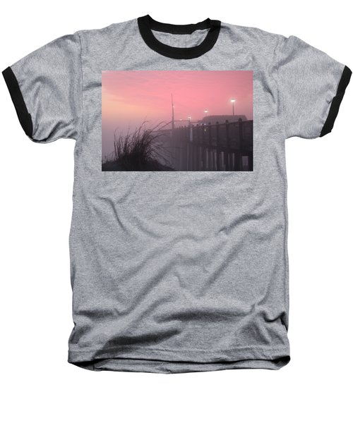 Pink Fog At Dawn Baseball T-Shirt