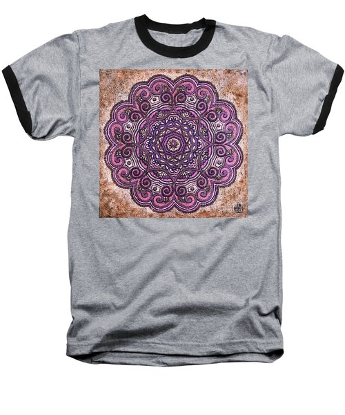 Pink Mandala Baseball T-Shirt