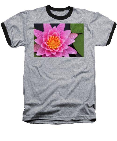 Pink Petals In The Rain  Baseball T-Shirt