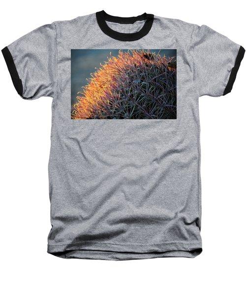 Pink Prickly Cactus Baseball T-Shirt