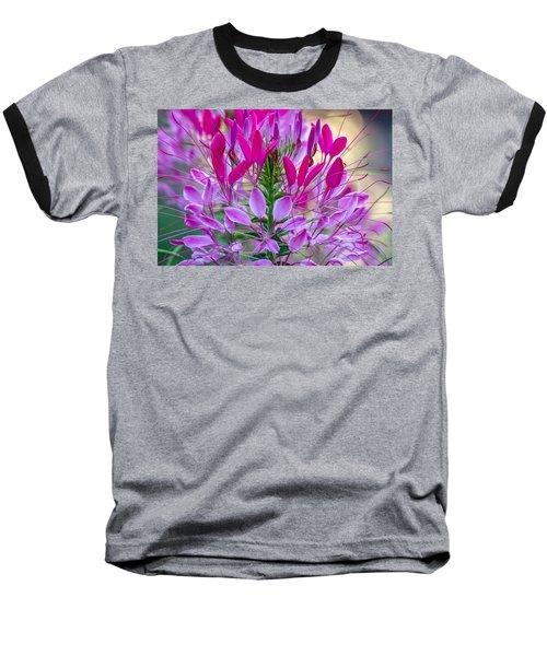 Pink Queen Flower Baseball T-Shirt