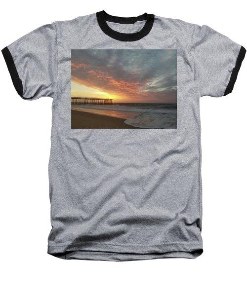 Pink Rippling Clouds At Sunrise Baseball T-Shirt