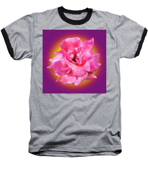 Pink Rose With Background Baseball T-Shirt