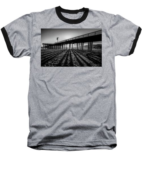 Pismo Beach Pier Baseball T-Shirt