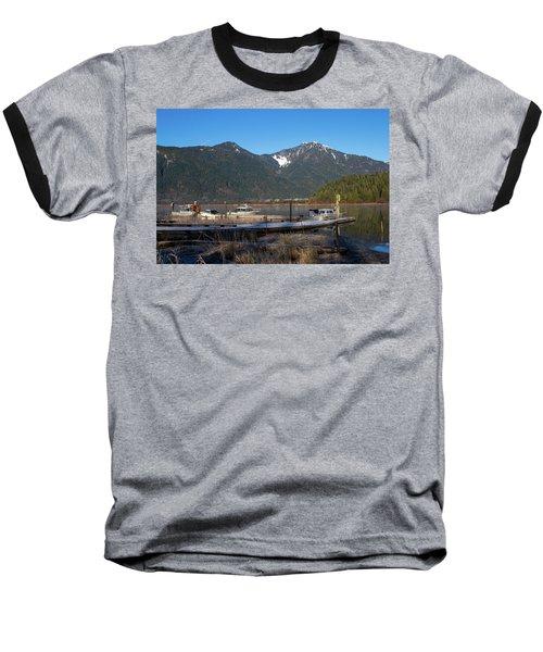 Pitt Lake Winterimpression Baseball T-Shirt