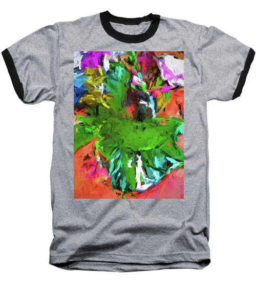 Plant With The Green And Turquoise Leaves Baseball T-Shirt