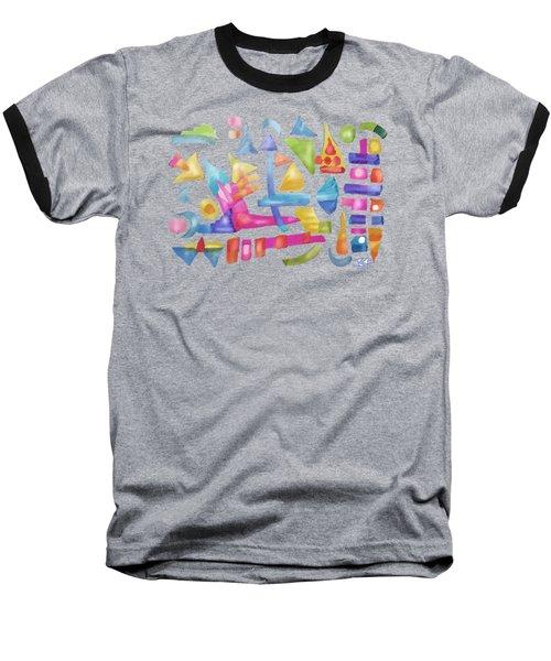 Play In Pastel Ink Baseball T-Shirt