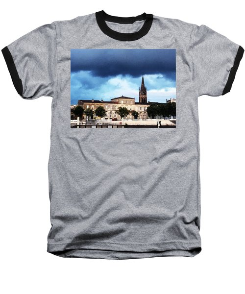 Poking The Storm Baseball T-Shirt
