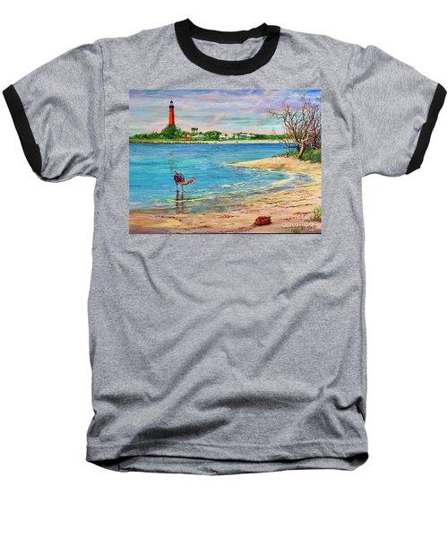 Ponce Inlet Lighthouse Baseball T-Shirt