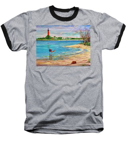 Ponce Inlet Lighthouse Baseball T-Shirt