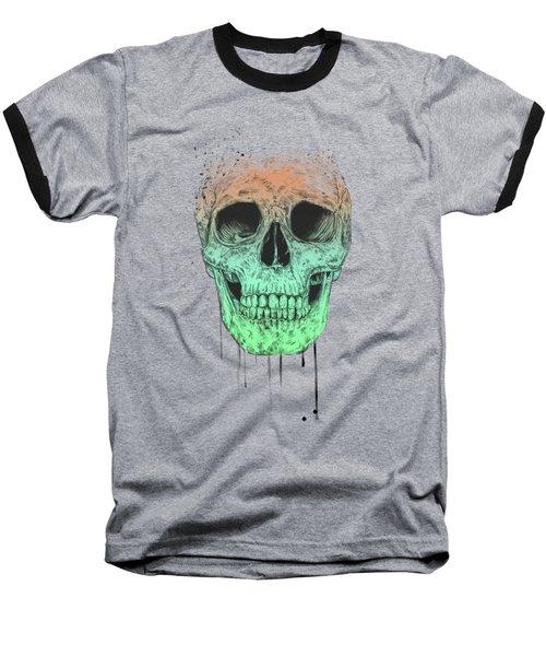 Pop Art Skull Baseball T-Shirt