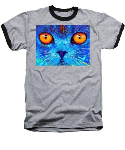 pOpCat Boe - Big Orange Eyes Baseball T-Shirt
