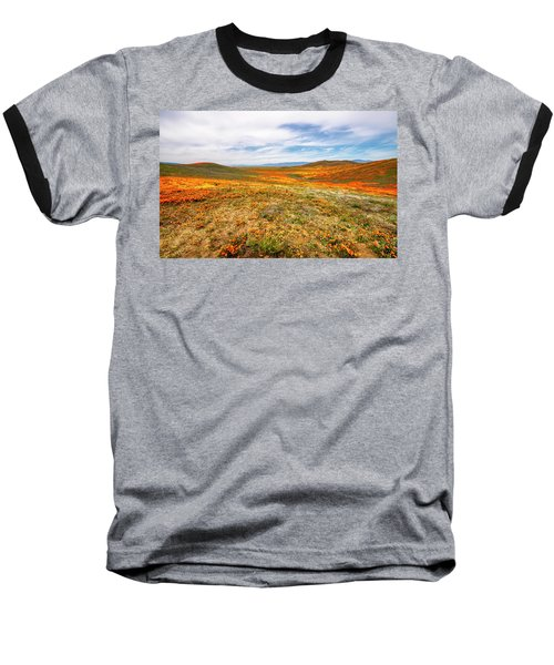 Poppies As Far As The Eye Can See Baseball T-Shirt