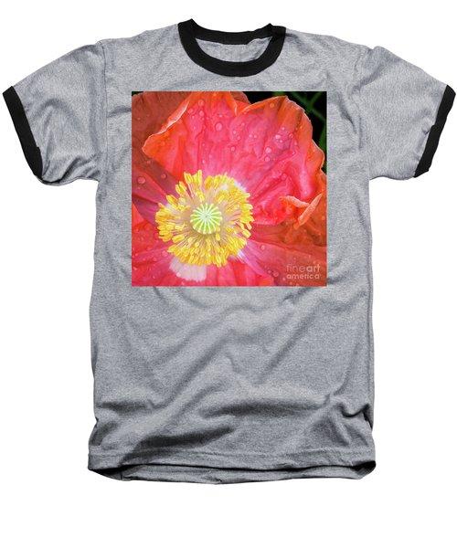Poppy Closeup Baseball T-Shirt