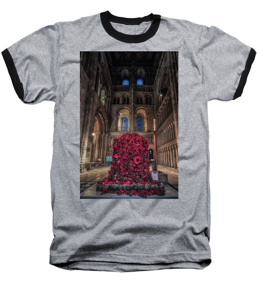 Poppy Display At Ely Cathedral Baseball T-Shirt