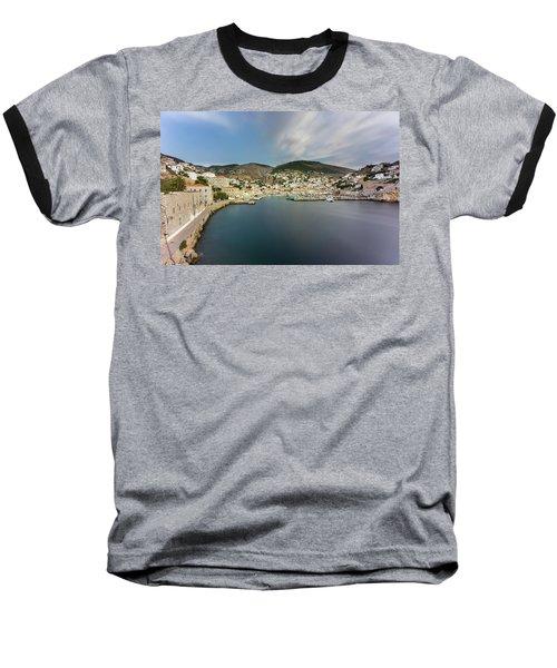 Port At Hydra Island Baseball T-Shirt