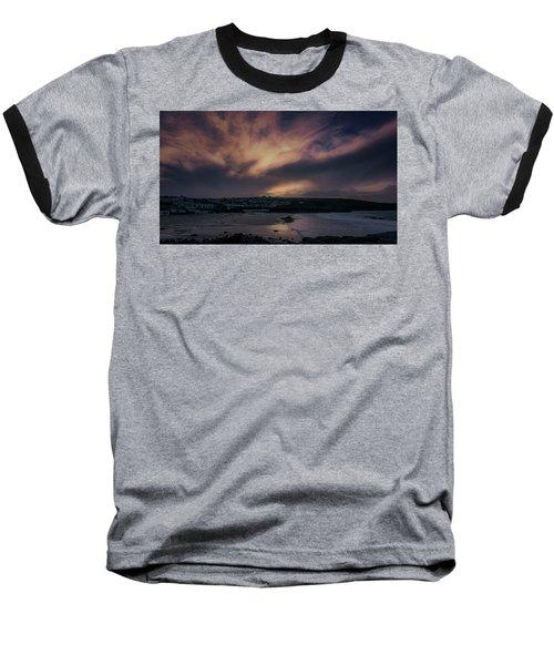 Porthmeor Sunset 4 Baseball T-Shirt