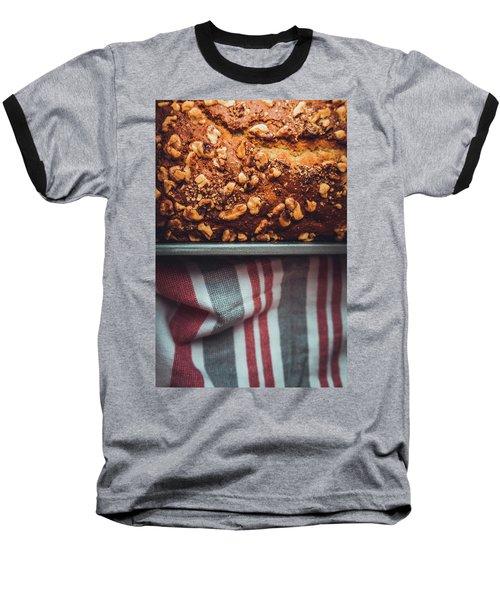 Portion Of Freshly Baked Banana Bread  Baseball T-Shirt