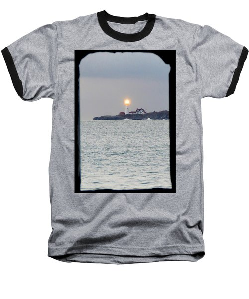 Portland Head Lighthouse Through The Gun Port Baseball T-Shirt